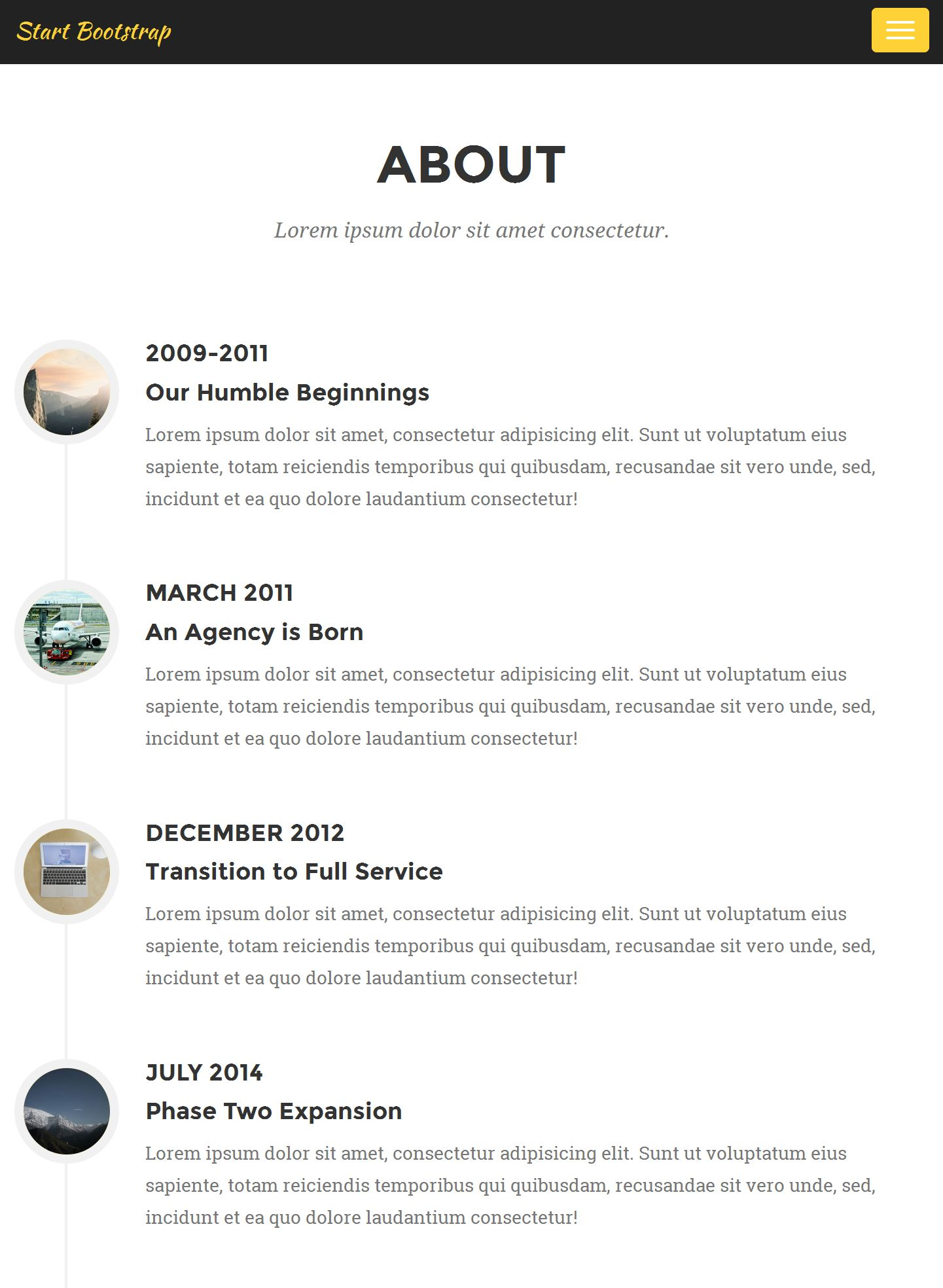 Bootstrap Responsive Template Free