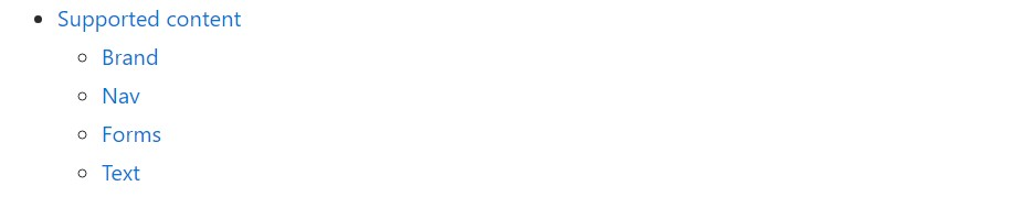 Bootstrap menu  approved  documents