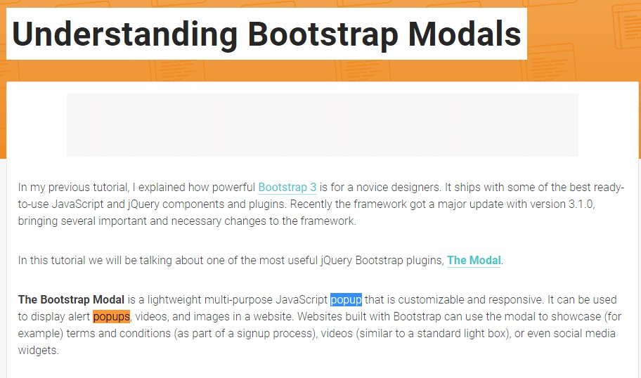 An additional  handy article about Bootstrap Modal Popup