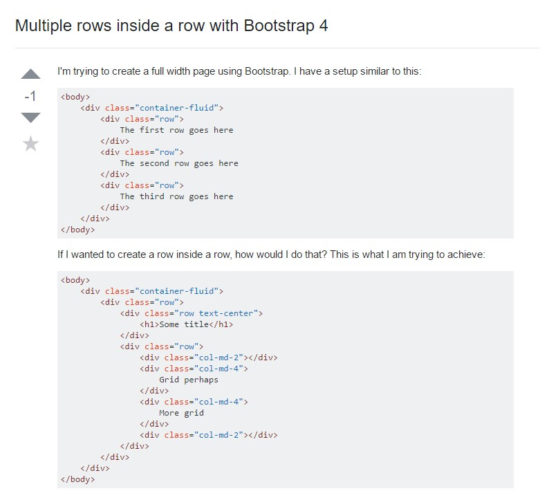 Multiple rows inside a row with Bootstrap 4