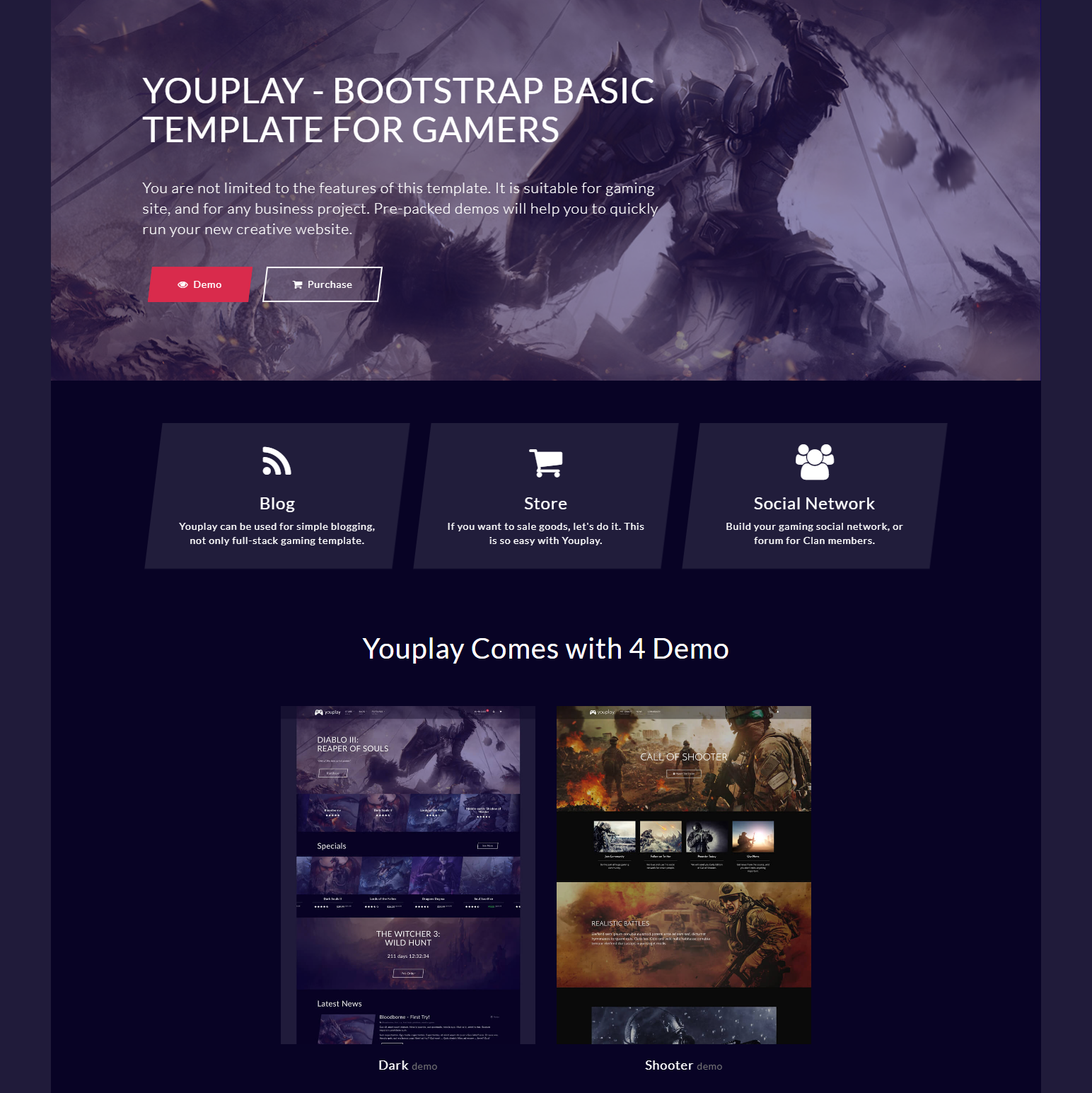 HTML Bootstrap YouPlay Themes