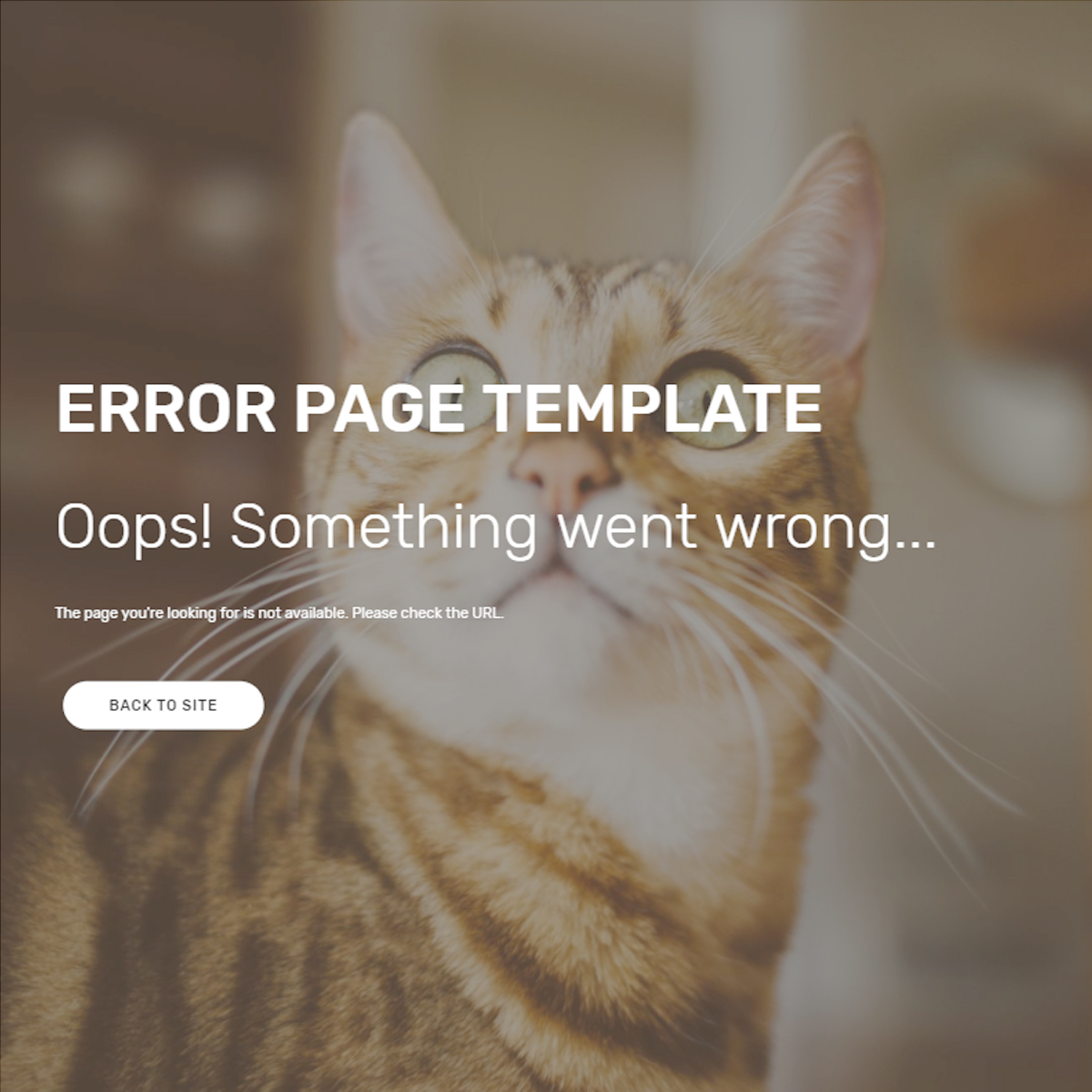 CSS3 Bootstrap Error Page Templates