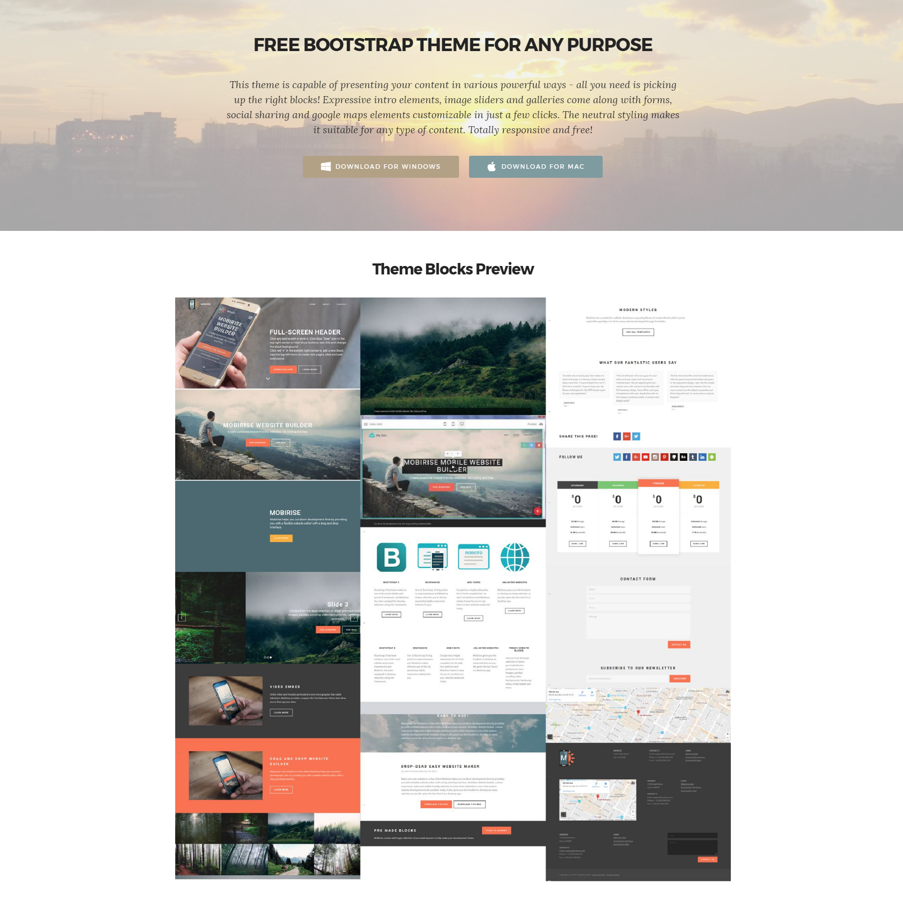 33 awesome free html5 bootstrap templates 2019