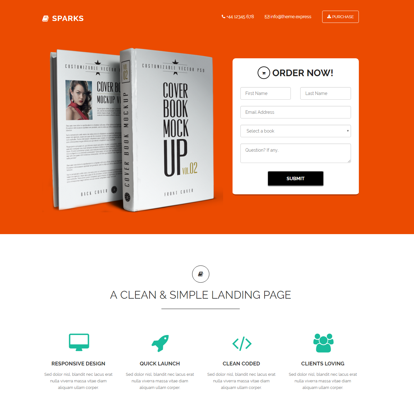 HTML5 Bootstrap Sparks Themes