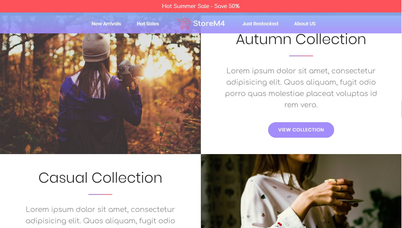 ecommerce bootstrap template