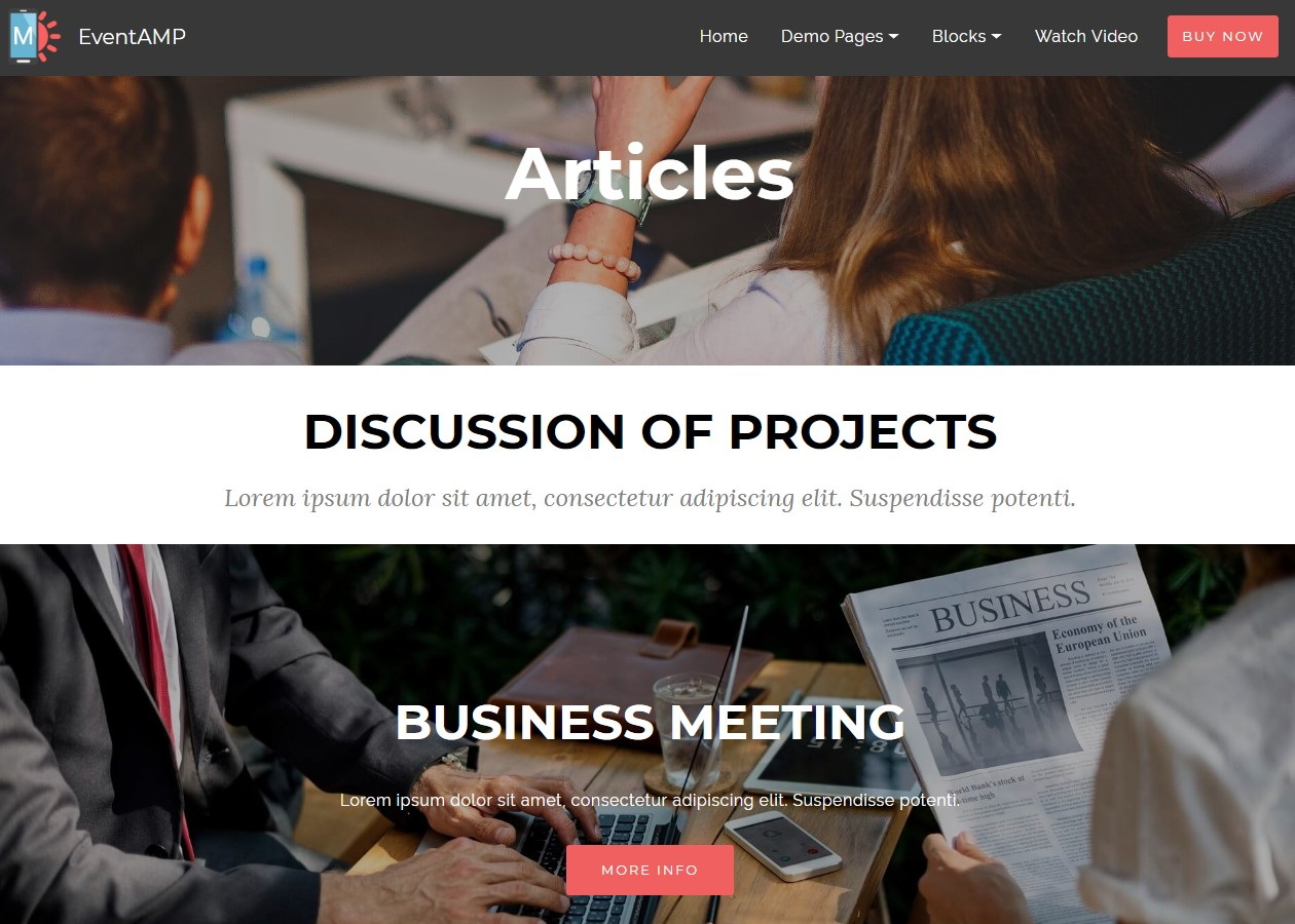 Landing Page HTML Templates