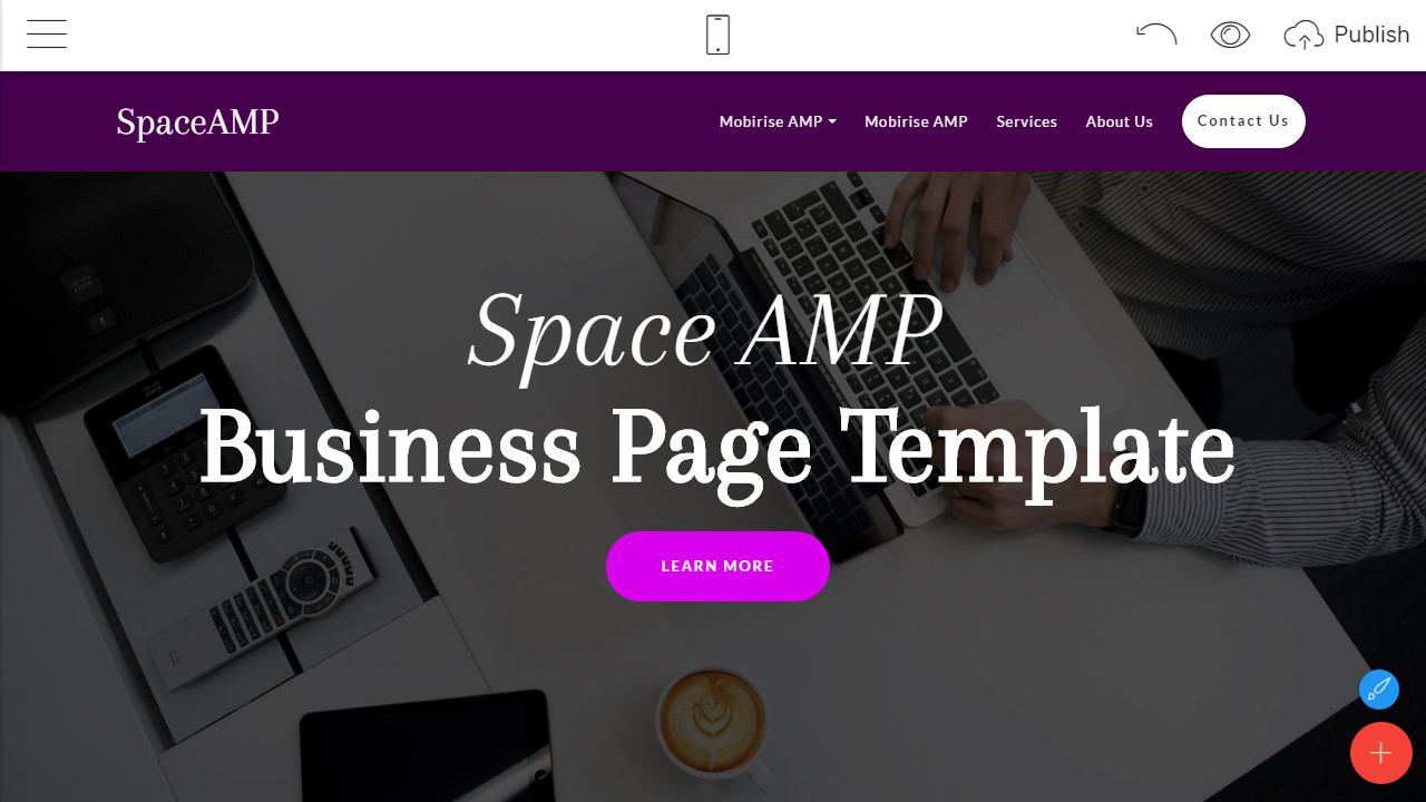 AMP Website Builder - free html templates