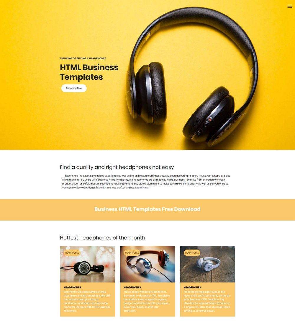 33 awesome free html5 bootstrap templates 2018 - Html Templates Free Download