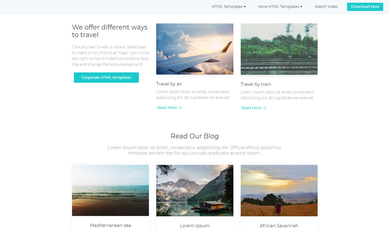 Simple HTML Templates Free Download