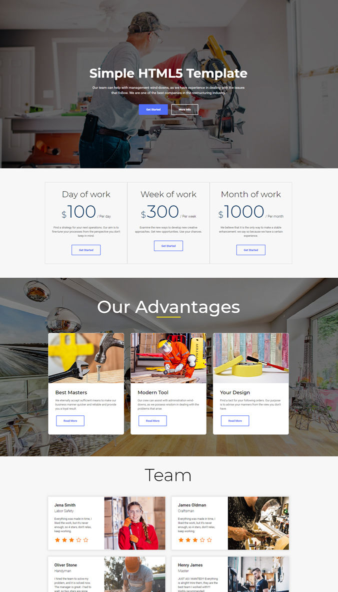 eCommerce Simple Templates