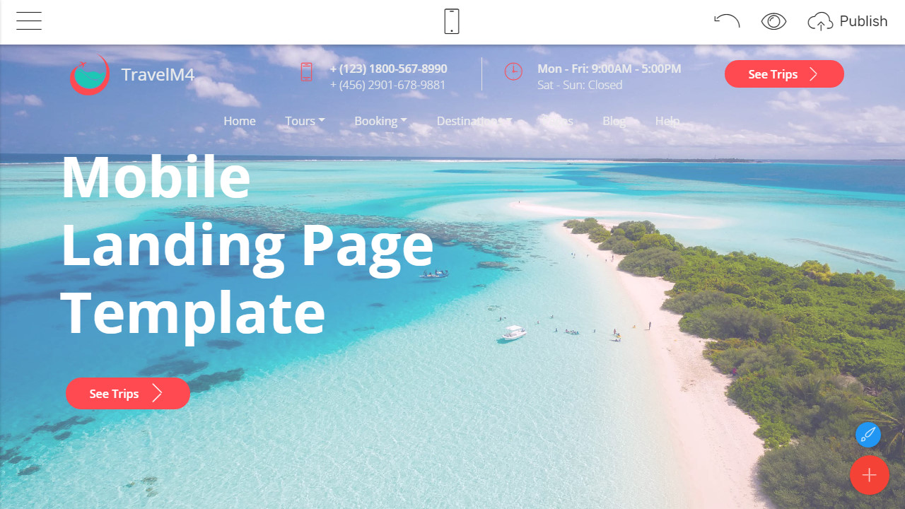 mobile landing page template