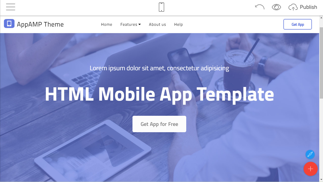 HTML Mobile App Template
