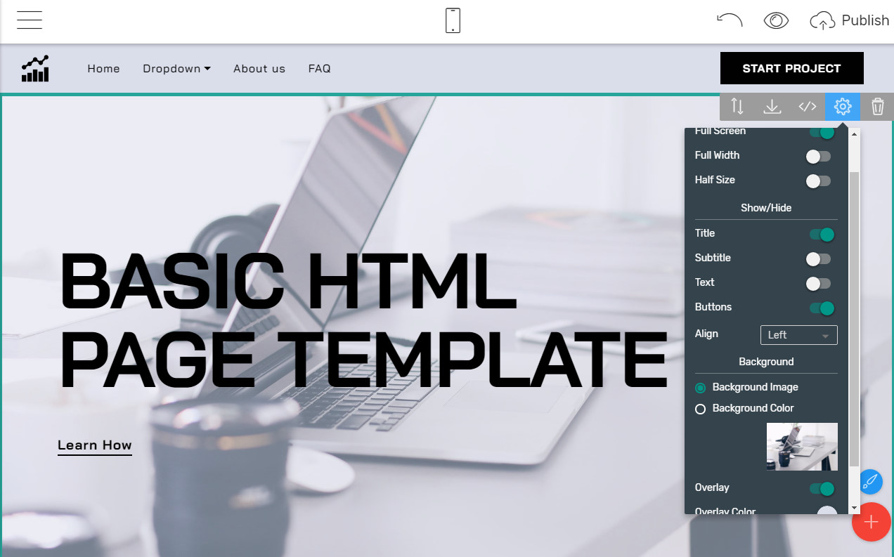 basic HTML page template