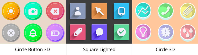 circle button 3d icon, square lighted icons, circle 3d windows icon generator