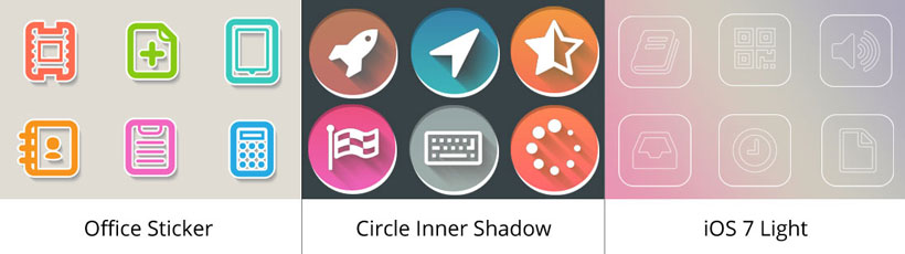 office sticker icon, circle inner shadow icons, ios 7 light icon generator