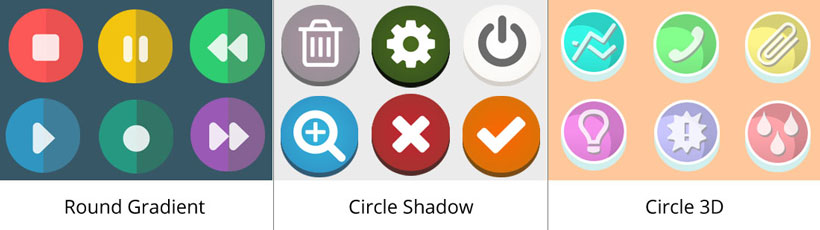 round gradient icon, circle shadow icons, circle 3d free icon maker