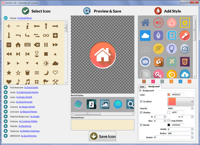 Iconion Icon Maker full screenshot
