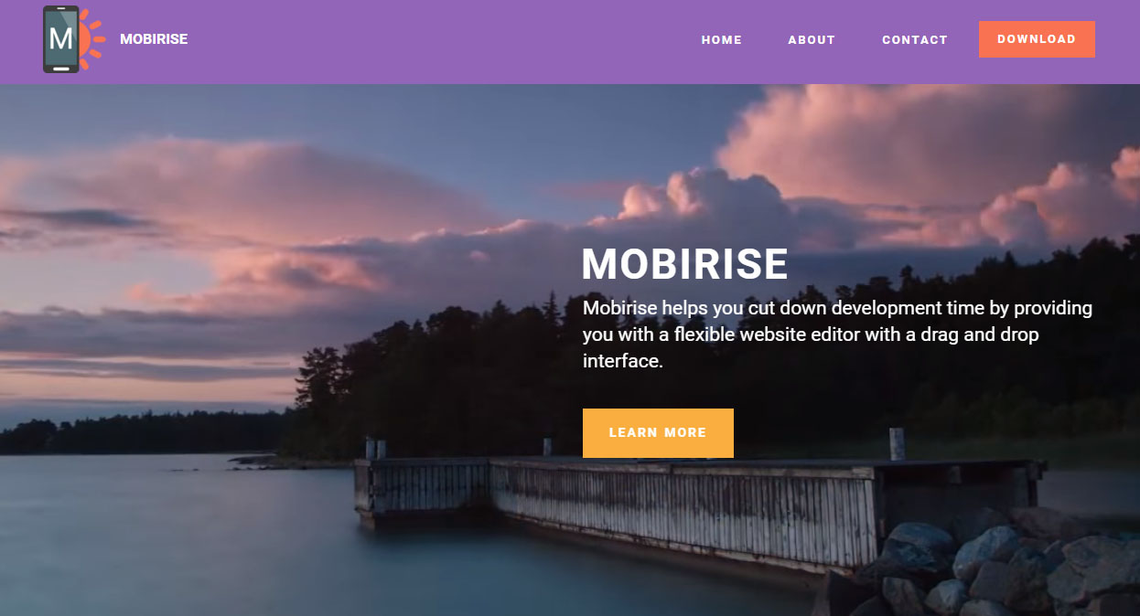 Mobirise Best Website Builder Software is easy to use, even for beginners