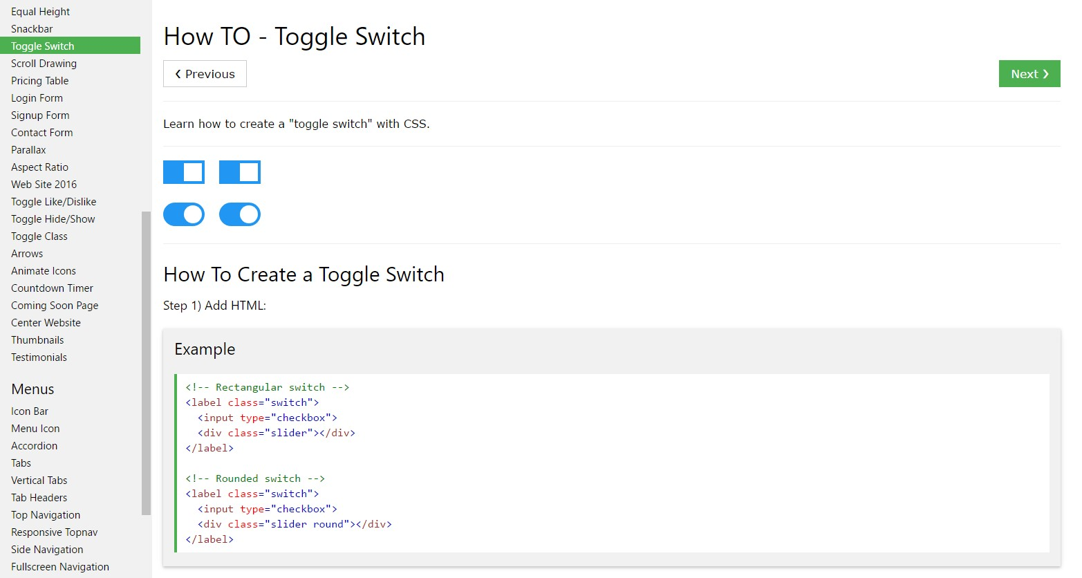 Effective ways to  produce Toggle Switch