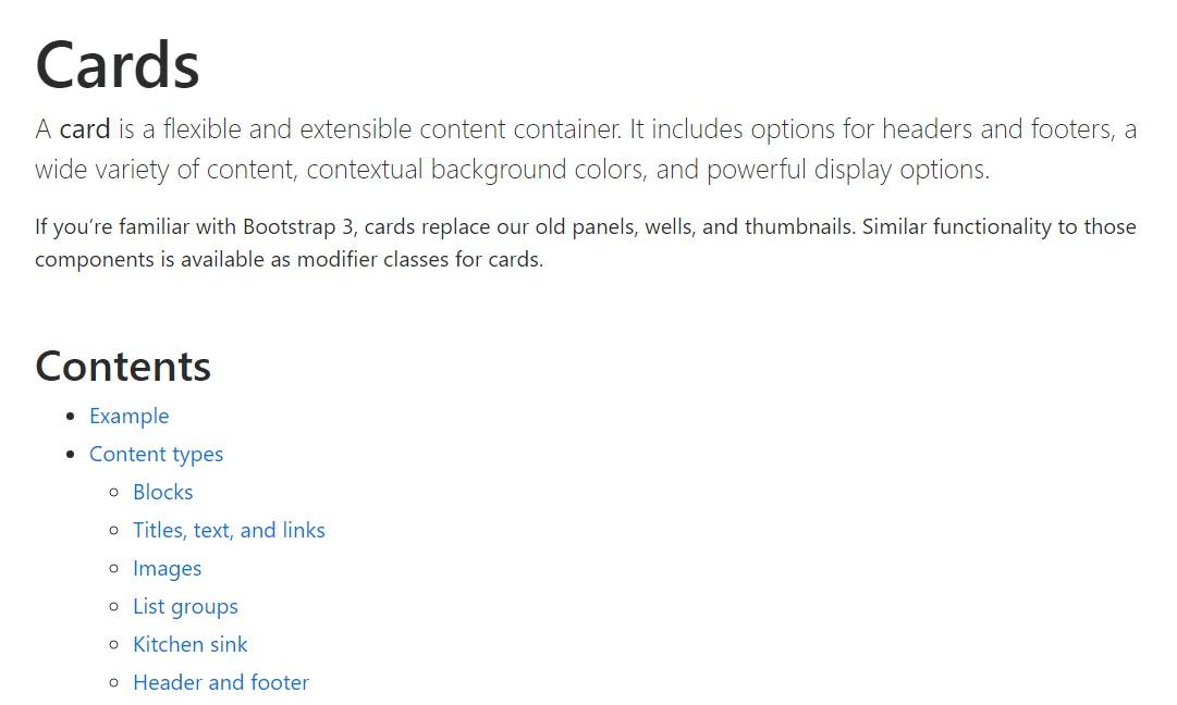Bootstrap Panel-Cards:  authoritative  documents