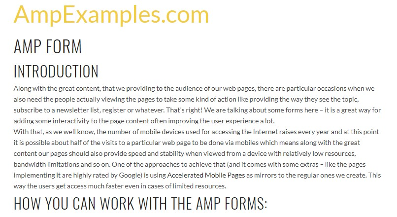 Why  do not we  inspect AMP project and AMP-form element?