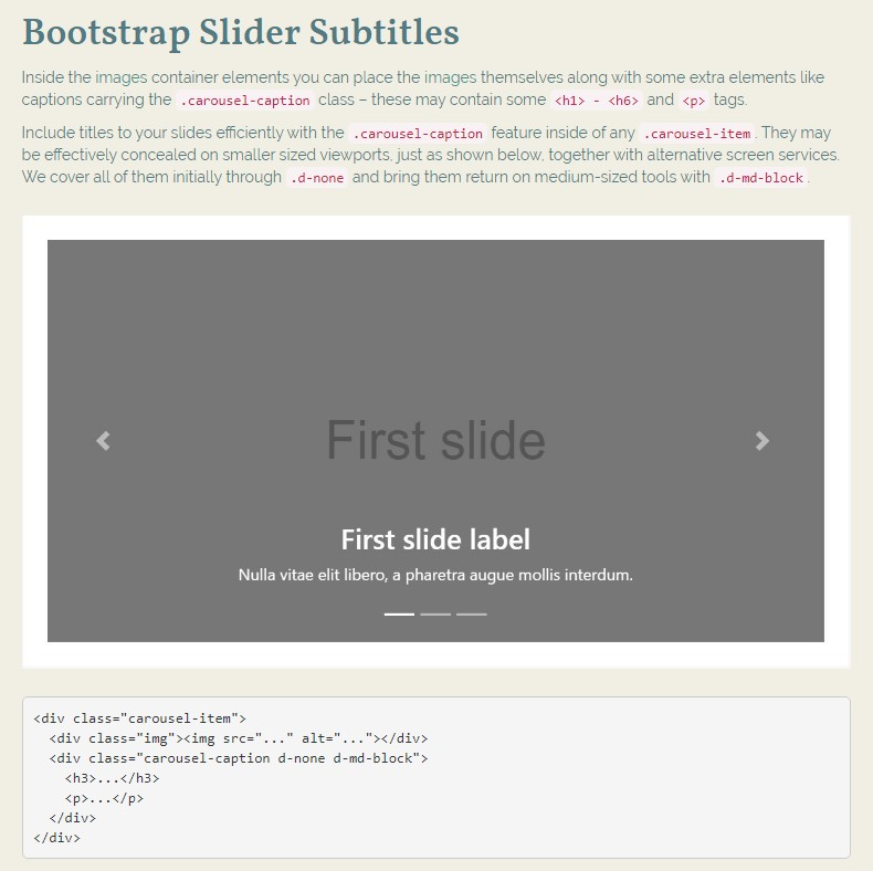 Bootstrap Responsive Slider