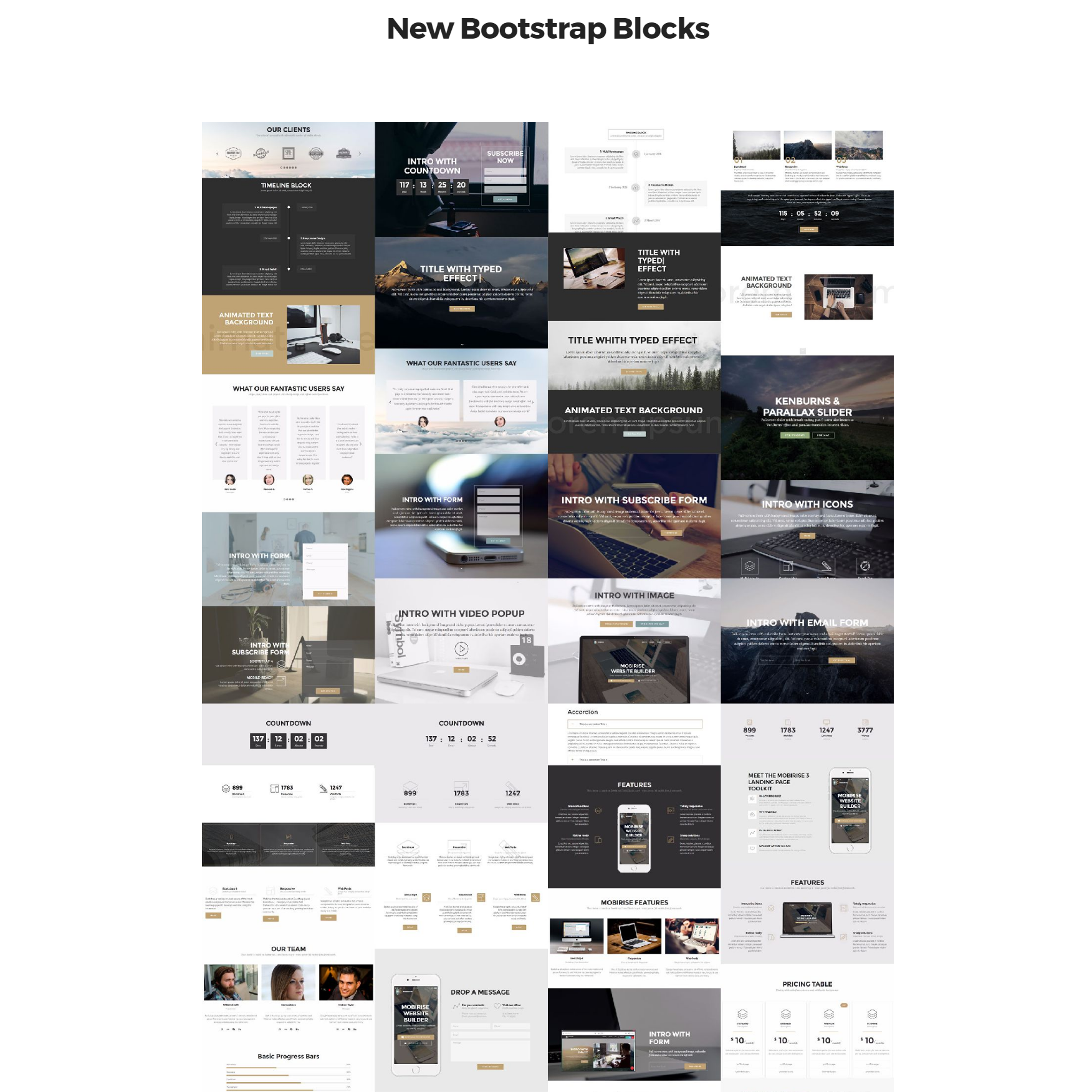 HTML New Bootstrap Themes