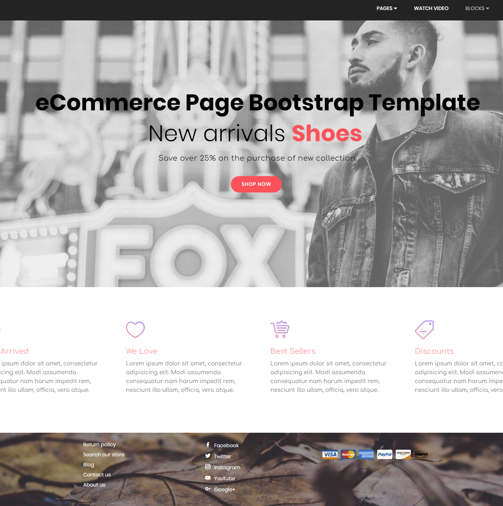 Responsive Bootstrap eCommerce Templates