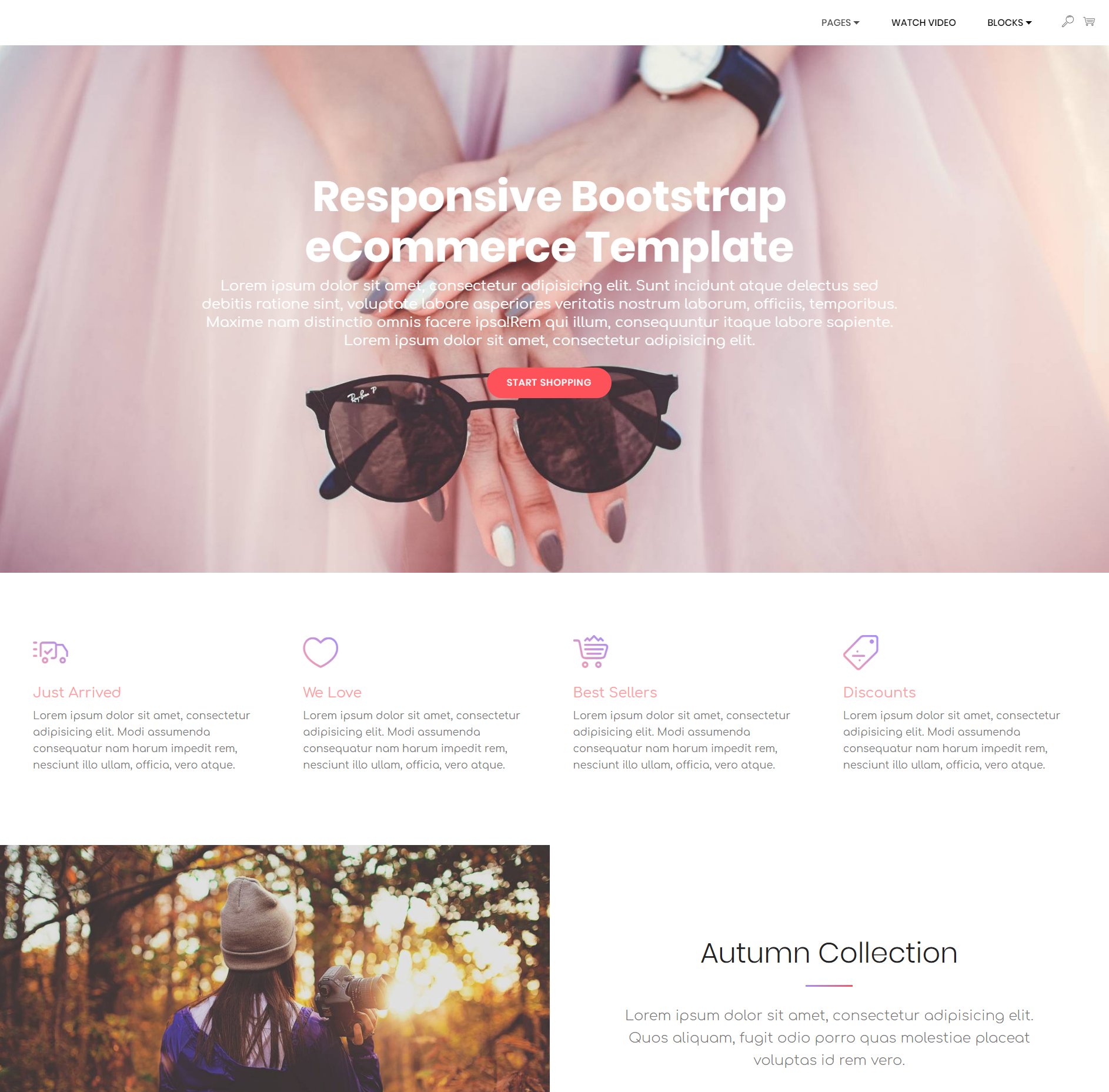 HTML5 Bootstrap Responsive eCommerce Themes