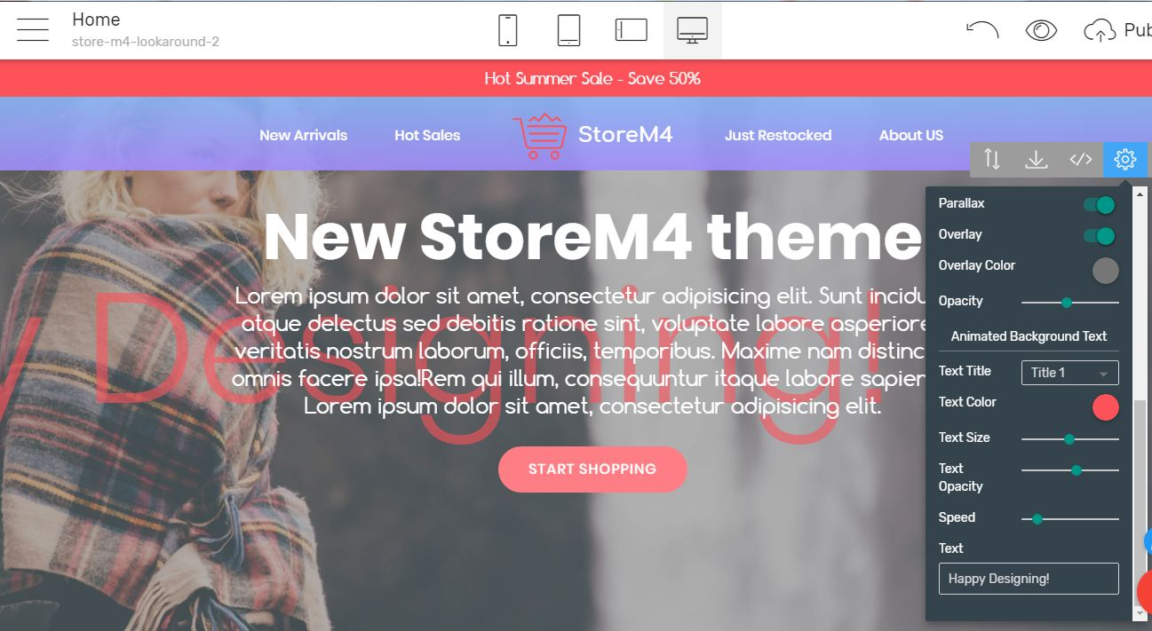 ecommerce responsive template
