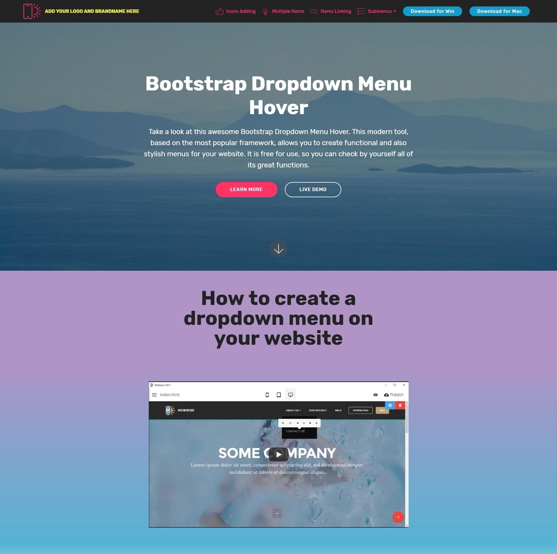 Bootstrap Dropdown Menu Hover