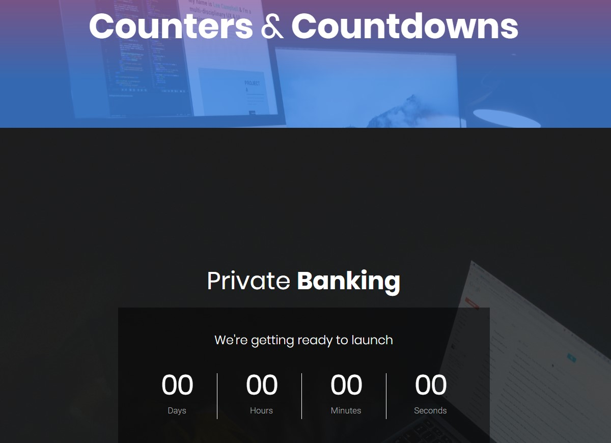 Mobile-friendly Counters