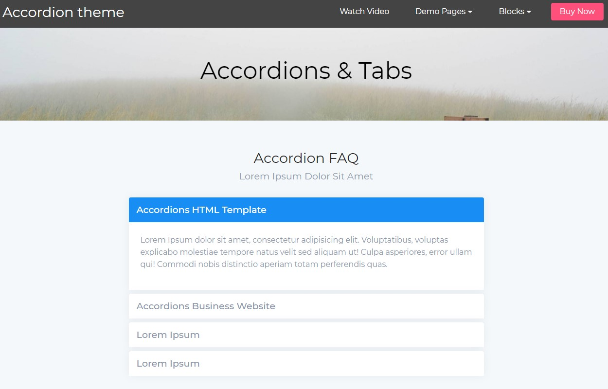 Useful Accordion Tabs
