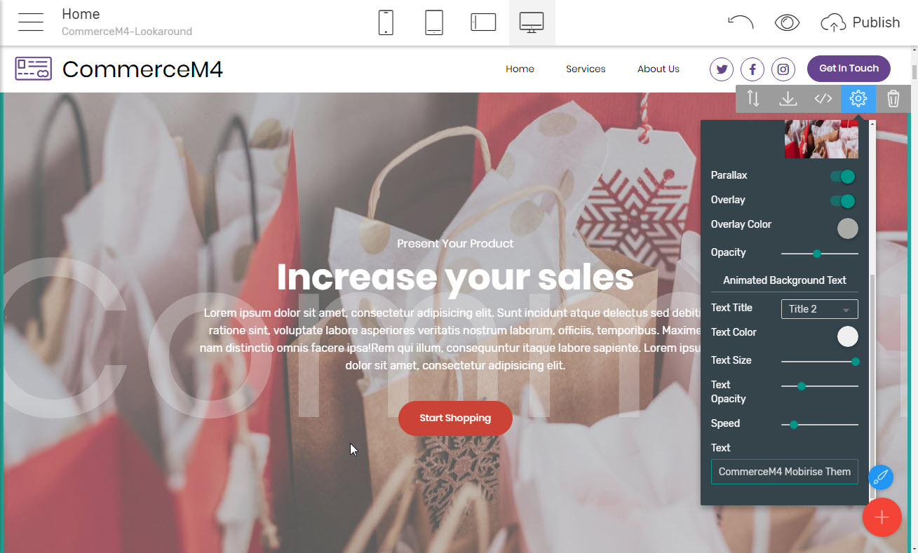 ecommerce HTML theme gallery