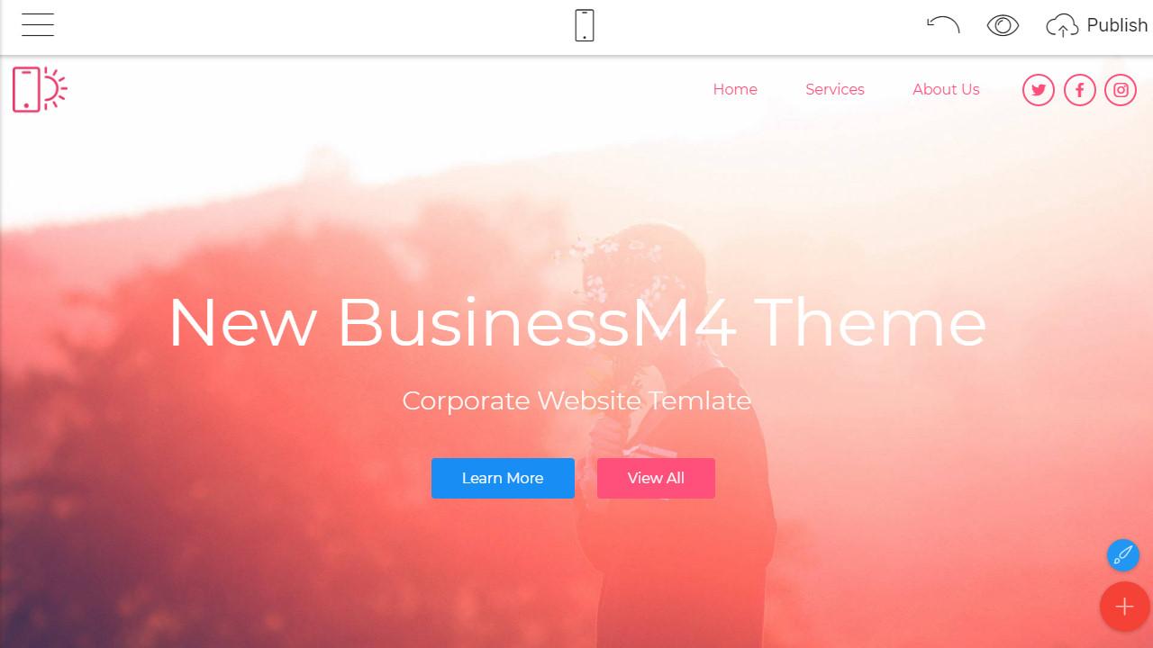 Corporate Website builder
