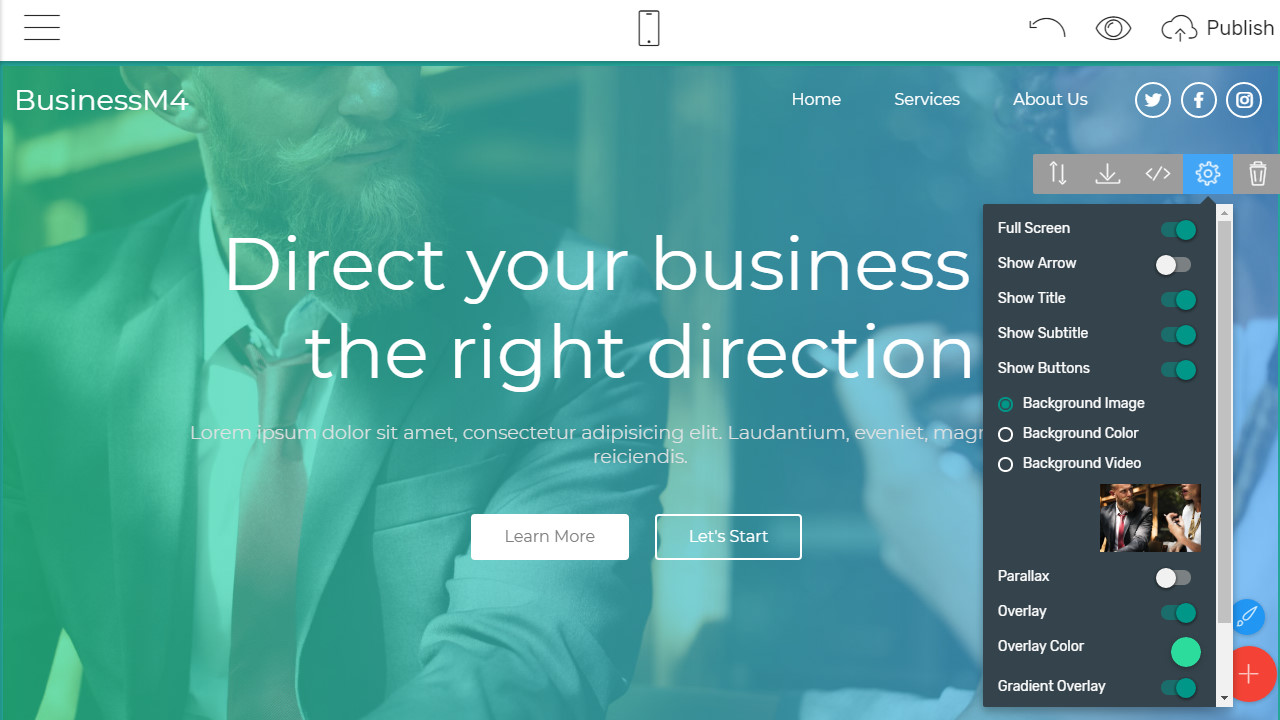 corporate page template