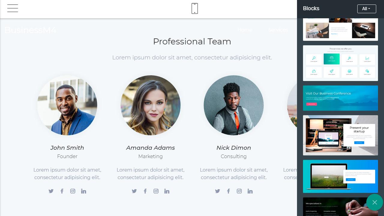 corporate website theme