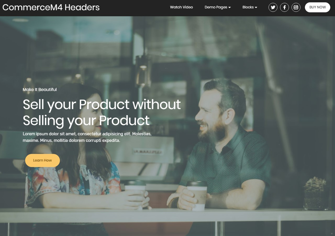 Headers Template for eCommerce Website