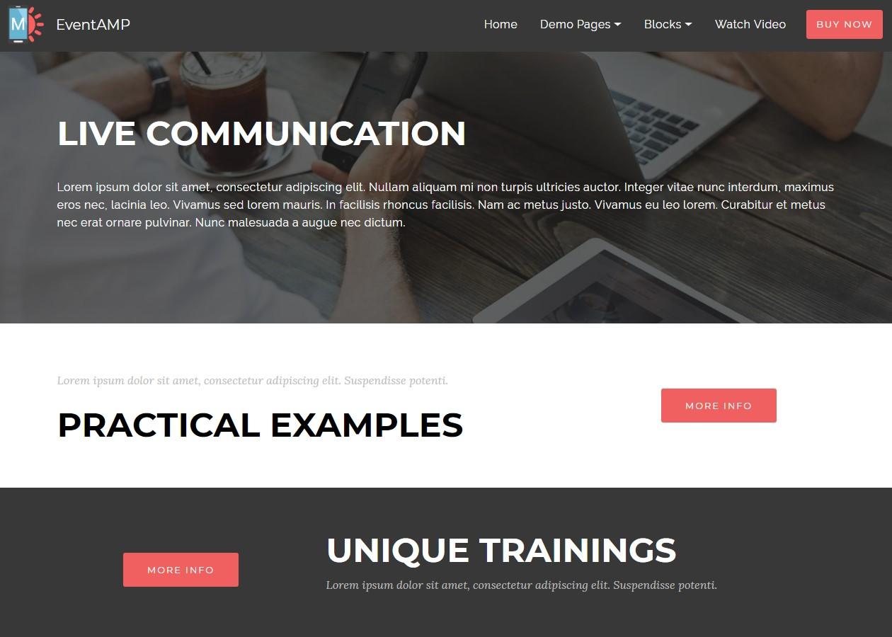 EventAMP HTML Images Info Templates