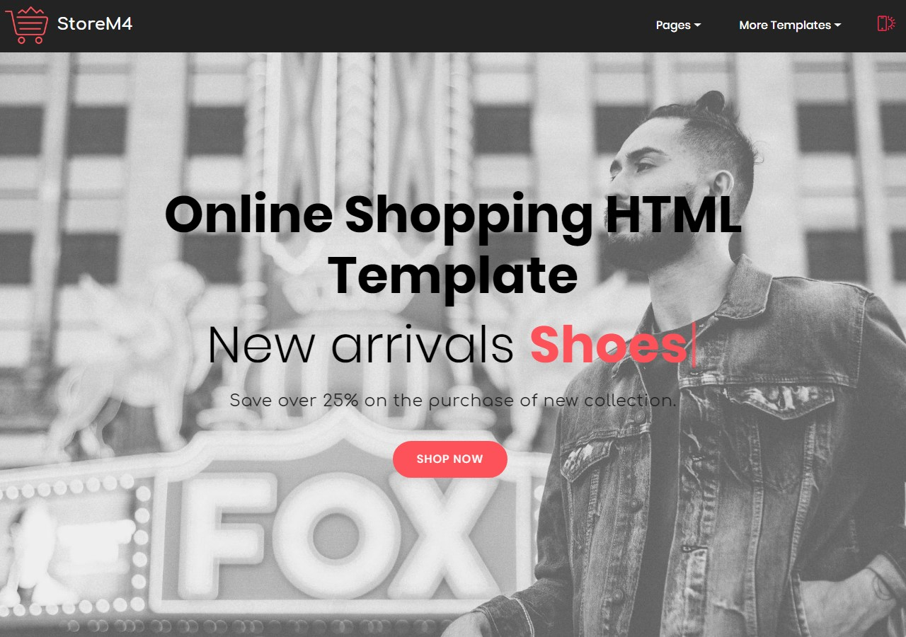 Shopping Cart HTML Template