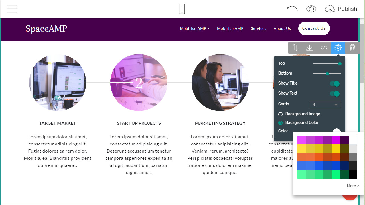 AMP Site Builder - free html templates