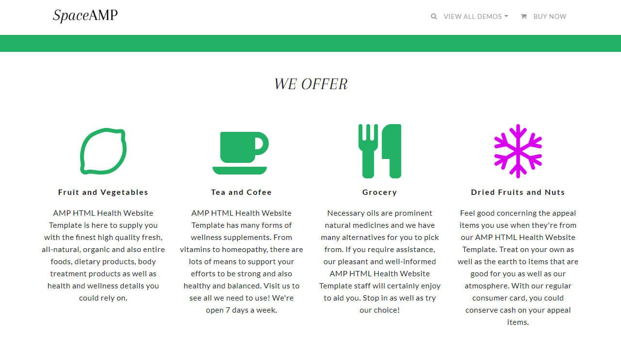 AMP Health HTML Template