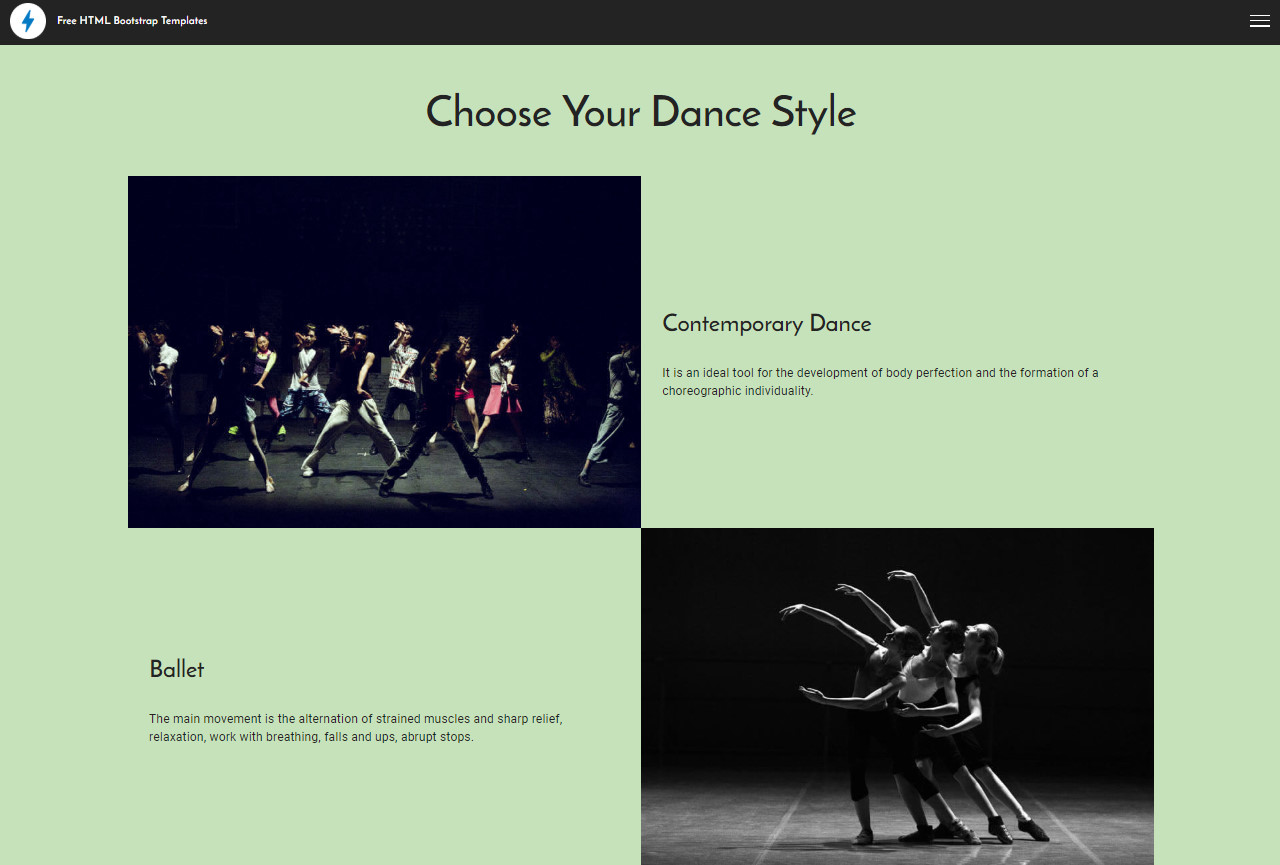 Free HTML Bootstrap Templates