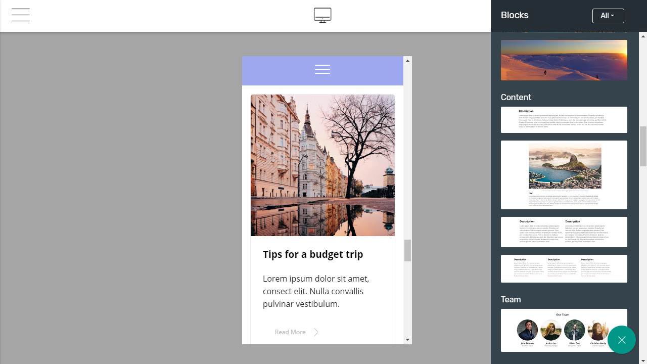 Bootstrap mobile templates