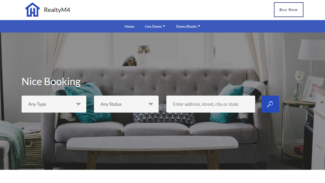 Mobile Bootstrap Booking Website Template