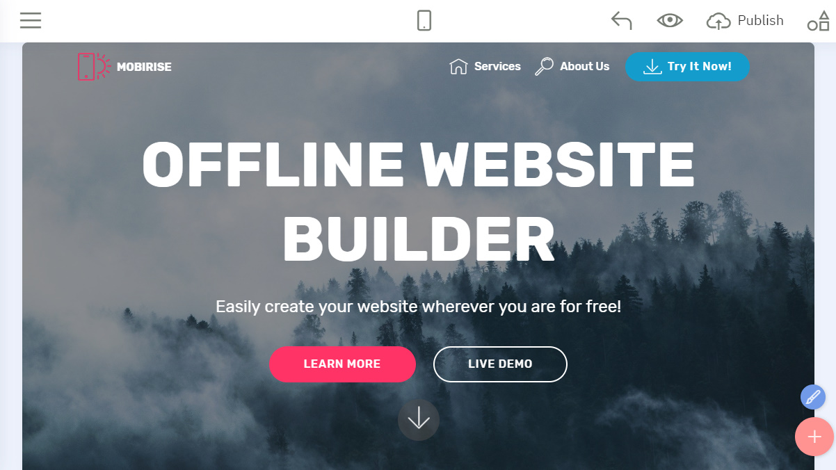 offline website builder